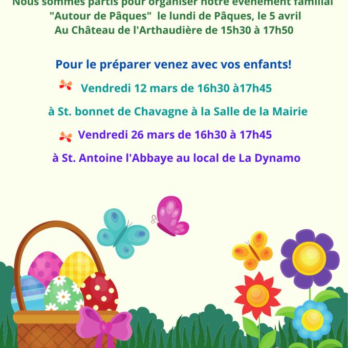 Rencontre Parents Enfants, Préparer notre Chasse aux œufs revisitée 12 mars à St. Bonnet de Chavagne