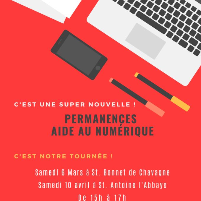 Permanences Aide au Numérique 6 mars à St. Antoine